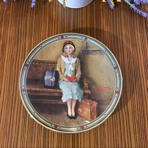Norman Rockwell 1985 A Young Girl's Dream Plate